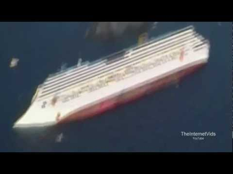 FIRST VIDEO: Sinking Cruise Ship in Italy