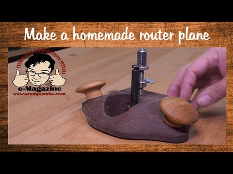 Make a homemade. fully featured woodworking router plane with common materials!