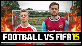 FOOTBALL VS FIFA WITH CHRISMD!!!