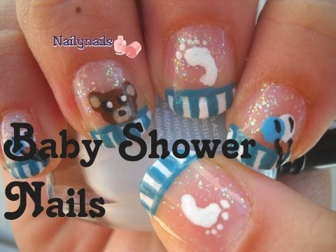 22 Baby Shower Boy Nails Baby Boy Shower Nails