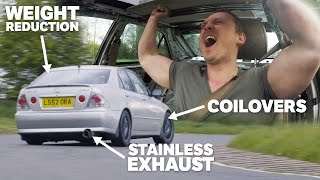 How Much Faster Is My IS 200 Track Car With Coilovers, Full Exhaust System & Weight Reduction?