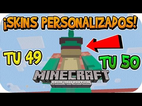 ¡SKINS PERSONALIZADAS EN MINECRAFT DE CONSOLA TU 49 TU 50 | Xbox 360/ONE/PS3/PS4/PSVita/Wii u