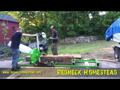 Sawing Elm with the Harbor Freight Sawmill - Review & Some Observations   Redneck Homestead