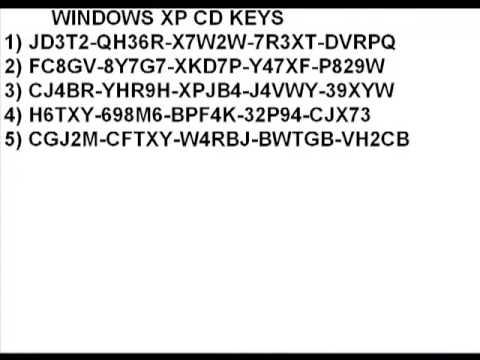 windows xp cd keys youtube On window xp product key list