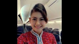 Lion Air Safety Demonstration: Pramugari cantik Lion Air