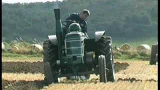 Field Marshal vintage tractor ploughing match near Alford