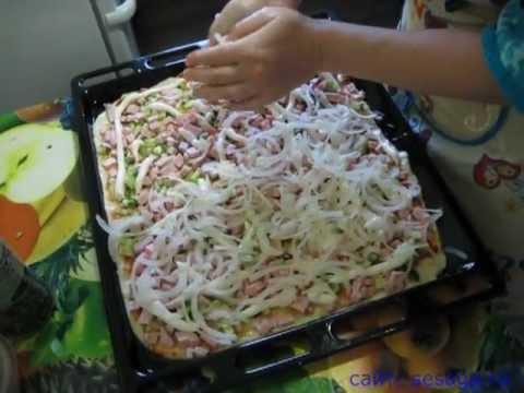 Как приготовить пиццу домашних условиях - видео