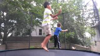 First Jump on the 12ft Skywalker Trampoline