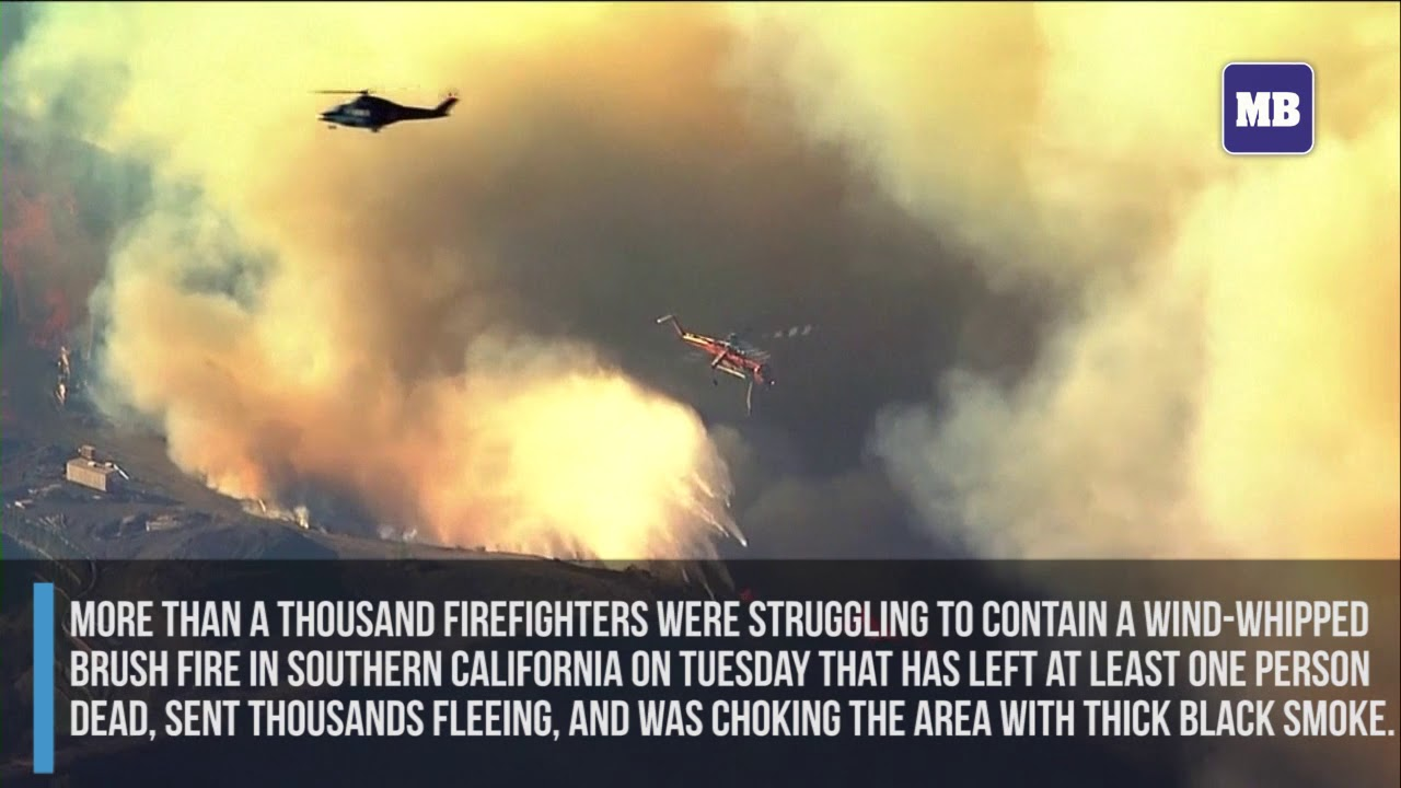 Wildfires continue to burn near Los Angeles