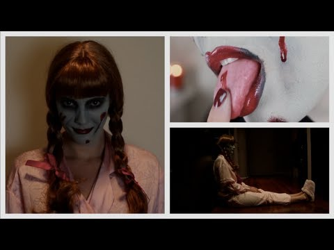 The Conjuring Doll Halloween Makeup Tutorial & Costume   Blair Fowler