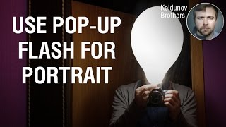 Simple diffuser for pop-up flash in portrait photography