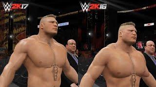 WWE 2K17: Brock Lesnar Entrance Comparison! (WWE 2K17 vs 2K16)