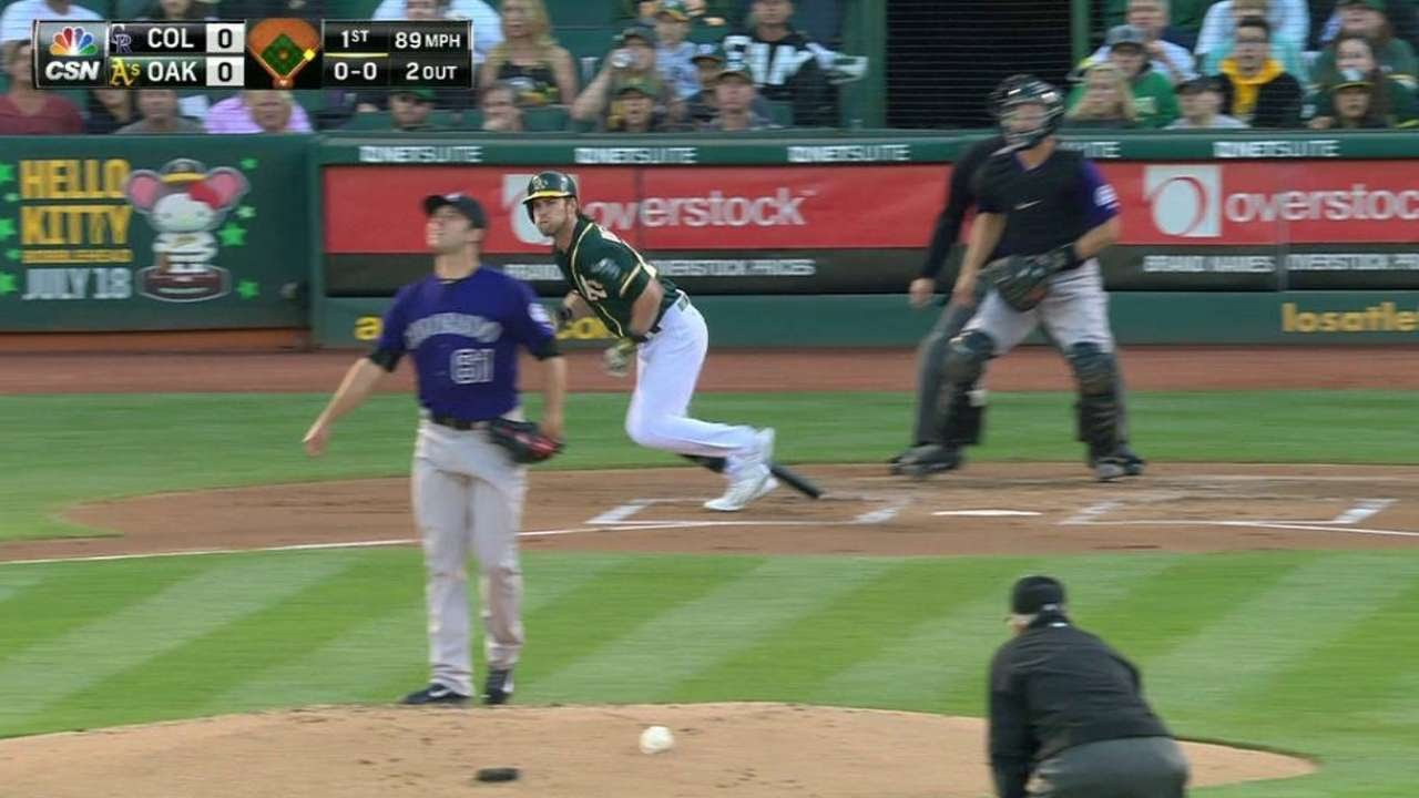 COL@OAK: Reddick clubs two-run homer to right-center