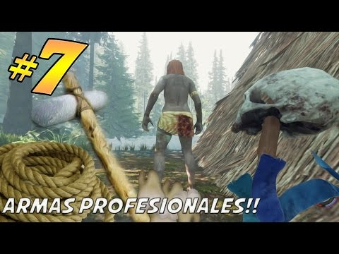 A fabricar nuestras armas! | The Forest #7 - Gameplay Español - 1080p