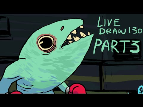 DSC Livedraw 131! Finishing the Fish Drawing (PT 2)