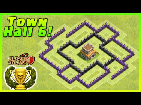 Clash of Clans - DEFENSE STRATEGY - Townhall Level 6 Trophy Base Layout  (TH6 Defensive Strategies)