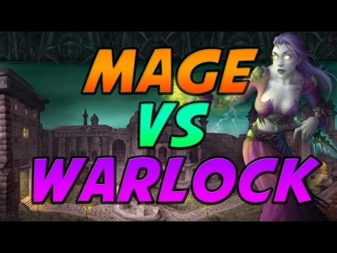 Fire Mage vs Warlock Duels Mists of Pandaria PvP Gameplay / Commentary