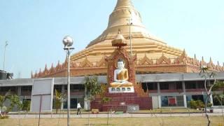 travel india@world's largest dome without pillars/gorai mumbai tour/buddhist global vipassana pagoda