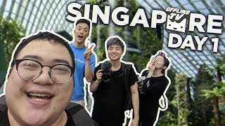 OFFLINETV IN SINGAPORE DAY 1 | PART 1 - Food, Flower Dome and Cloud Forest /w Lily, Albert & Edison