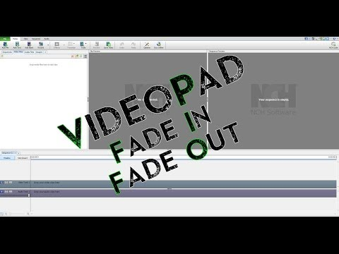 Videopad Video Editor (3.xx) Free Fadein & Fadeout Tutorial video