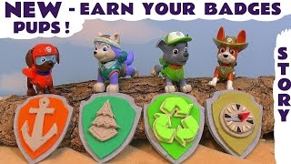 Paw Patrol Stop Motion Play Doh  Logo Badges Accident Rescue Toy Story with Minions by ToyTrains4u