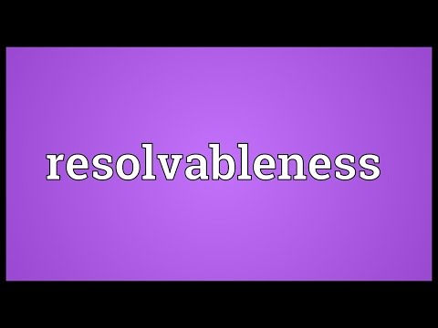 Header of resolvableness