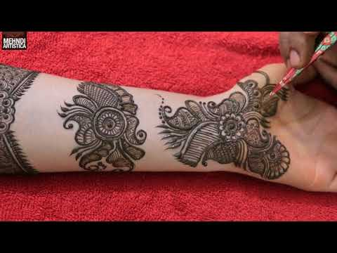 Beautiful Kada Mehndi Design For Karwa Chauth | Best Traditional Rajasthani Intricate Hena Mehehndi