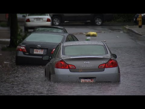 Raw: Mass. Storms Cause Floods, Power Outages