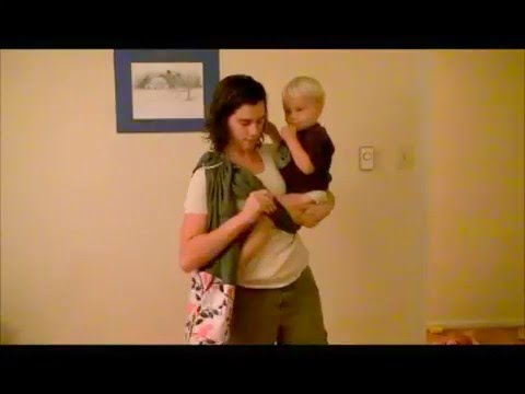 Toddler Hip Carry with a Ring Sling