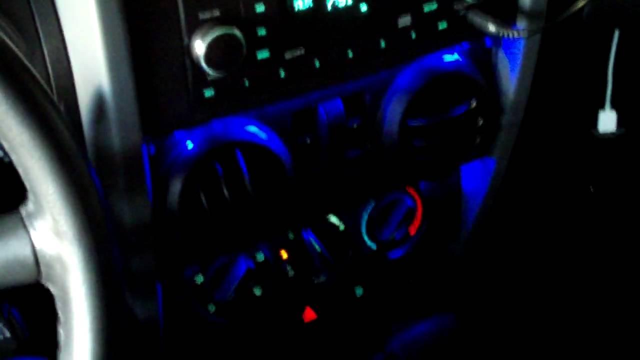 Jeep Wrangler Jk Blue Dash Lighting Led Youtube