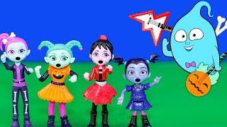 Vampirina and the Scream Girls Play with PJ Masks and Puppy Dog Pals Spooky Haunted House