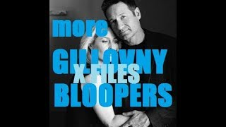 More Gillovny bloopers (The X Files David Duchovny Gillian Anderson) stars of Californication Fall