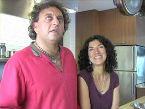 Vikram Vij with beautiful, friendly, nice, Wife Meeru Dhalwala