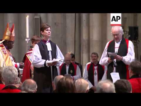 Church of England ordains first female bishop, protest