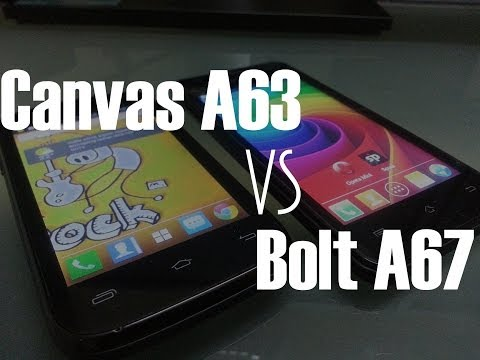 Comparison Of Micromax Canvas Fun A63 vs Bolt A67