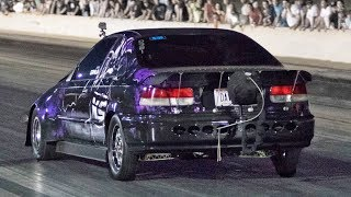 950hp Civic Underdog vs. Nitrous Mustangs!