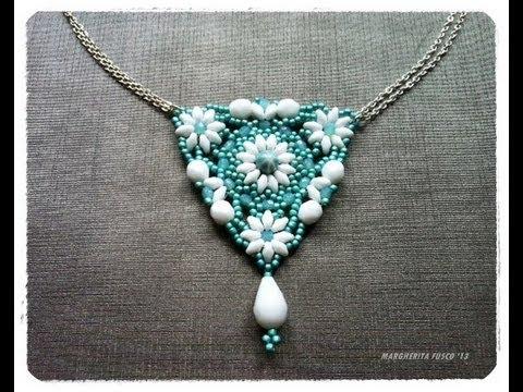 Tutorial Con Perline Superduo Come Fare Un Ciondolo Triangolare Con Perline Superduo How To