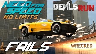 Need For Speed No Limits Devils Run FAILS Compilation