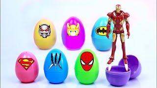 Khai mạc Trứng siêu anh hùng bất ngờ với Siêu nhân và Người sắt Đồ chơi tr�