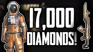 Spending 17k Diamonds! Gold Astronaut and Singularity AKM!  | Rules Of Survival