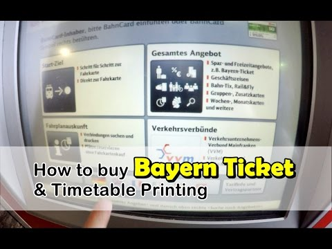 How to buy Bayern ticket and print timetable : Germany-Austria Travel Vlog Ep34