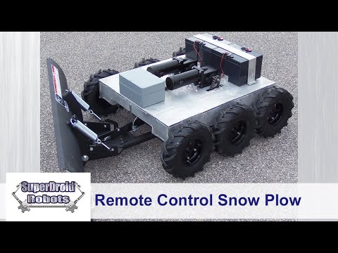 Remote Control 6WD Snow Plow Robot