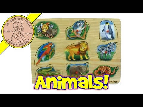 Melissa & Doug Zoo Animal Sounds Wood Puzzle Toy - Lucky Penny Shop