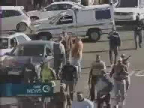 SABC News footage of the Jeppestown Tragedy when four policemen were shot and killed.