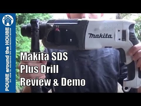 Makita SDS plus hammer drill REVIEW and DEMO. HR2470WX 3KG 240V Makita drill.