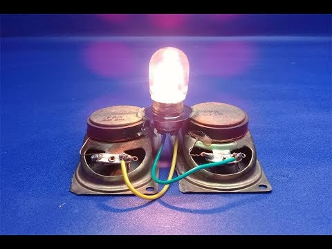 How to make 100% free energy light bulbs generator with speaker magnets - at home thumbnail