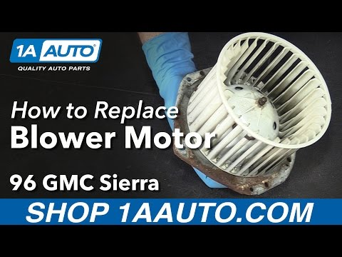 How to Install Replace Blower Motor 1996 GMC Sierra K1500