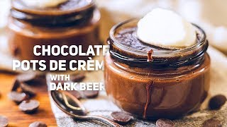 Chocolate Pots de Crème with Dark Beer