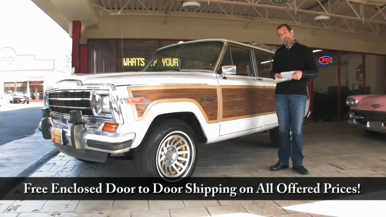 White Jeep Wagoneer >> 1988 Jeep Grand Wagoneer for sale with test drive, driving sounds, and walk through video - YouTube