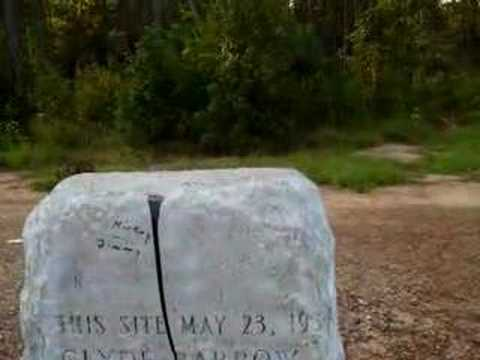 BONNIE & CLYDE AMBUSH SITE MARKER